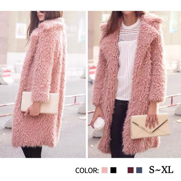 casual coat, Winter Coat Women, keepwarmcoat, wool coat