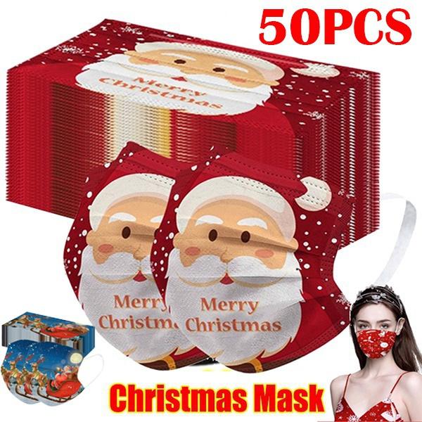 dustproofmask, Christmas, Elastic, printedmask