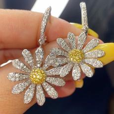 Sterling, DIAMOND, Sapphire, Stud Earring