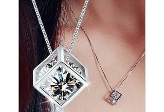 Sterling, DIAMOND, Jewelry, Necklaces Pendants