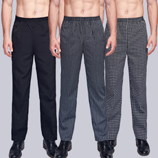 chefuniformpant, chefpantsblack, elastic waist, Stripes