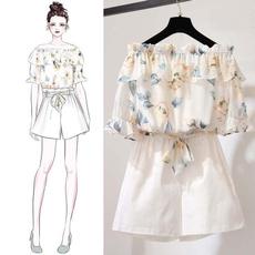 blouse, Summer, Shorts, chiffon