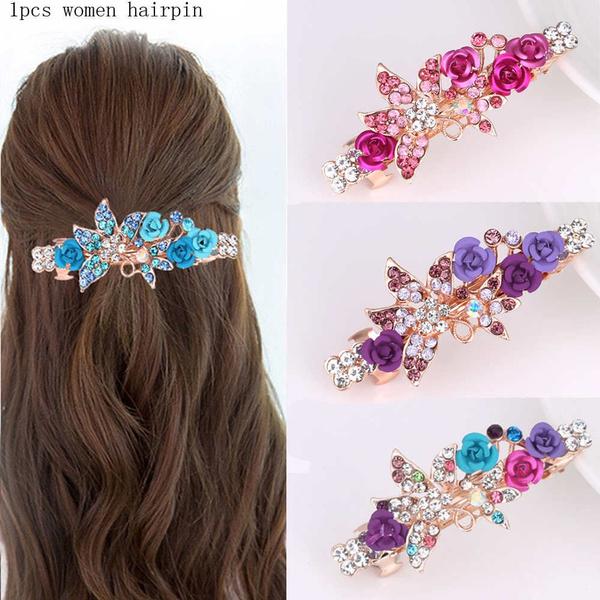 hairdecoration, eleganthairpinsclip, Barrettes, flowerhairpinclip