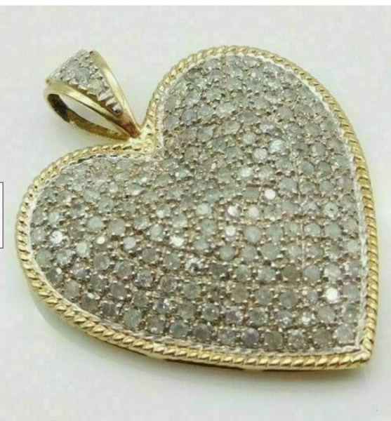 Heart, DIAMOND, Chain, gold necklace