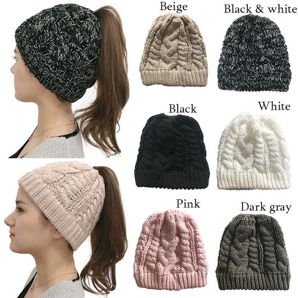 Warm Hat, Beanie, hats for women, ponytailbeanie
