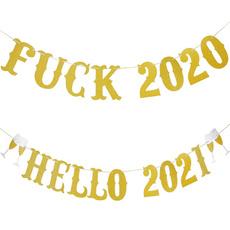 bannerdecoration, farewellbanner, partybanner, gold