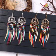 boho, Hoop Earring, Dangle Earring, Jewelry