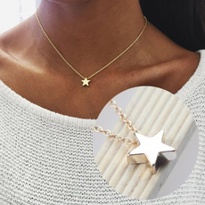 Star, Gifts, gold, women necklace