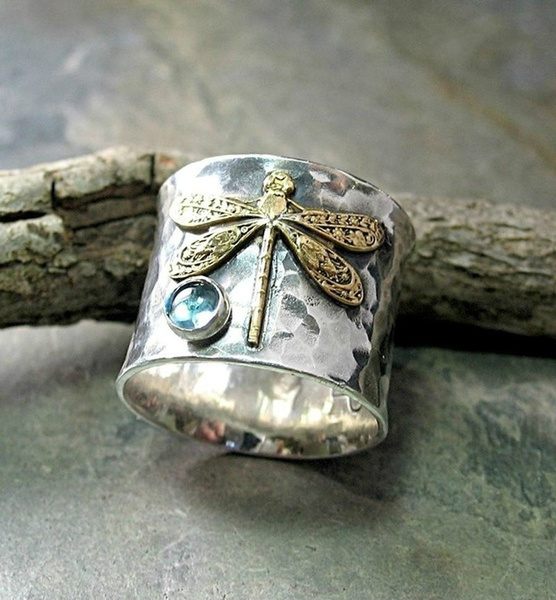 Sterling, dragon fly, Unique, 925 silver rings
