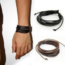 brown, Fashion, blackleatherbracelet, Jewelry