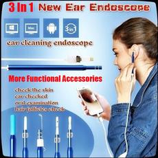 Mini, nosethroatinspection, Camera, earwaxearpick