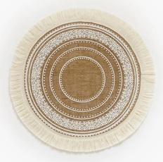 handmadeellipticawovenplacemat, roundwovenrattantablemat, Flax, Kitchen Accessories