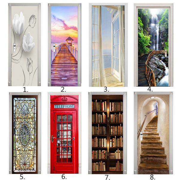 Door, doorsticker, doorstickerbathroom, Stickers