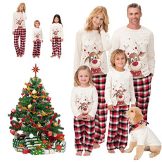 natale, Fashion, pyjamaenfant, pyjamafemme