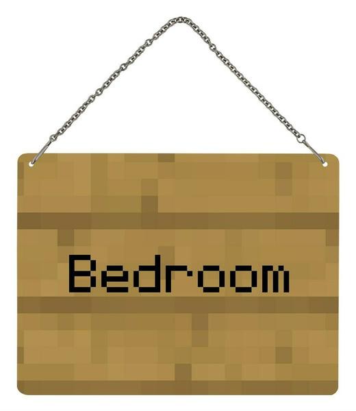 bedroom, 20x15cm, sign