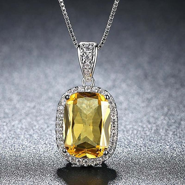 Sterling, Party Necklace, DIAMOND, squarenecklace