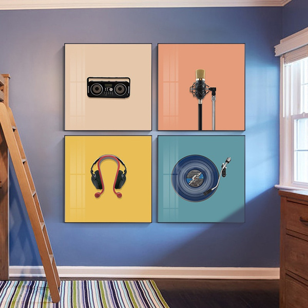 Pictures, Microphone, Wall Art, Home Decor
