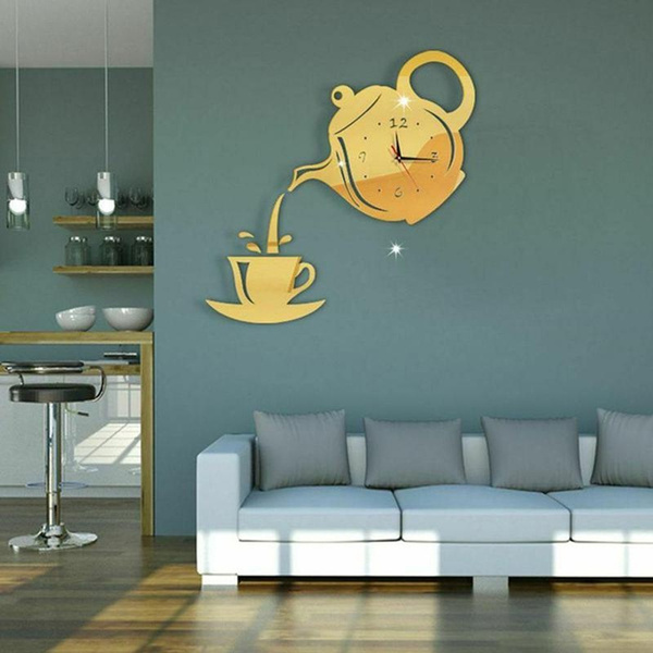 Stickers, Home Decor, Clock, kettleclock