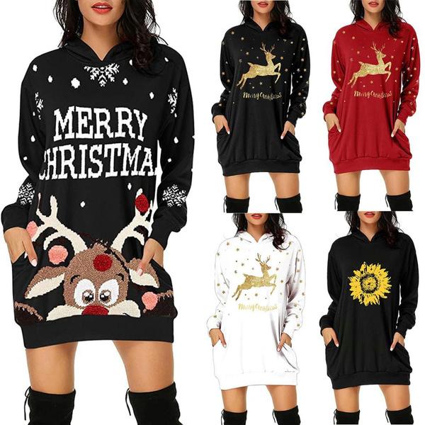 Fashion, Christmas, Long Sleeve, Tunic dress