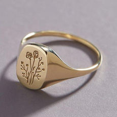 Sterling, cute, wedding ring, gold