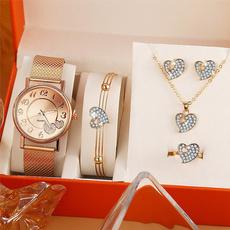 Heart, quartz, christmasgiftjewelry, Watch
