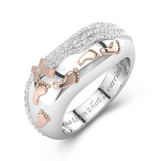 Fashion, Love, 925 silver rings, Engagement Ring