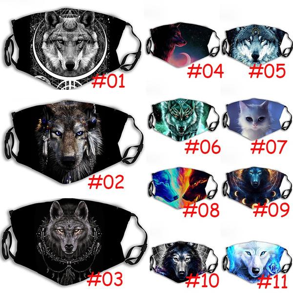 wolfprint, mouthmufflemask, warmmask, Masks