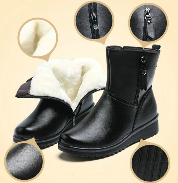 Medium, Leather Boots, Winter, Gifts