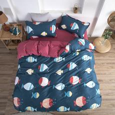 case, twinfullqueenkingsize, 4pcsbeddingset, Sheets & Pillowcases