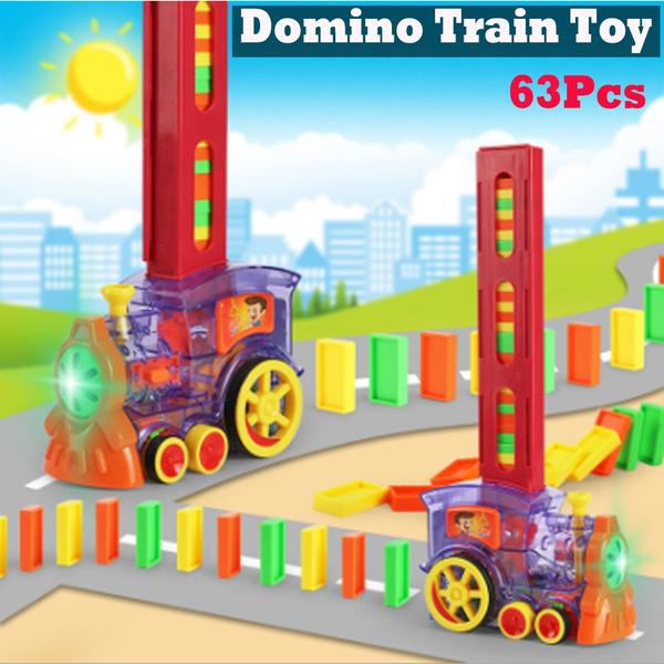 Toy, electrictrainmodel, dominoe, Educational Toy