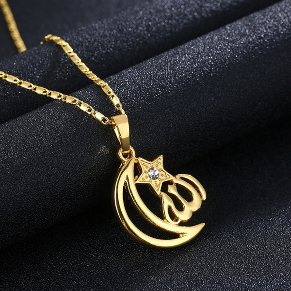 Star, Necklace, islamnecklace, moonnecklace