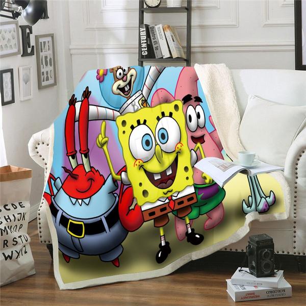 3dprintedthrowblanket, Sponge Bob, Sofas, Blanket