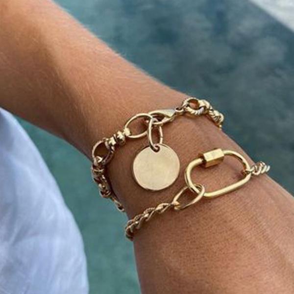 minimalist, gold bracelet, Irregular, Vintage
