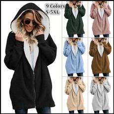 casual coat, Casual Hoodie, fur, Winter