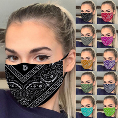 Women, printedmask, Fashion, blackmask