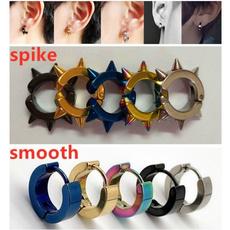 Steel, fashionspikeearring, Jewelry, Stud Earring
