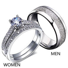 Steel, Couple Rings, wedding ring, gold