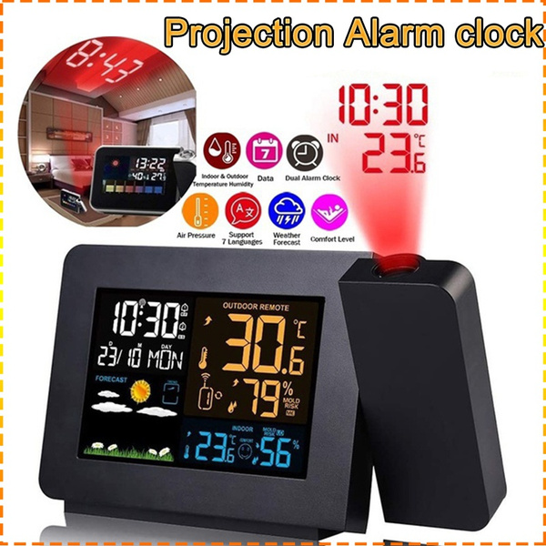 projectionalarmclock, humidityclock, led, projection