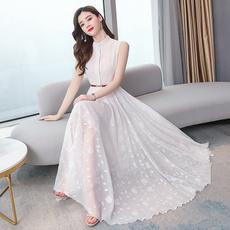 slim dress, long skirt, summerwomenswear, Waist