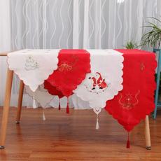 kitchentablelinen, Kitchen & Dining, gnome, embroideredtableandflag