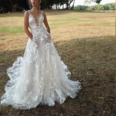 Moda, Encaje, long dress, Evening Dress