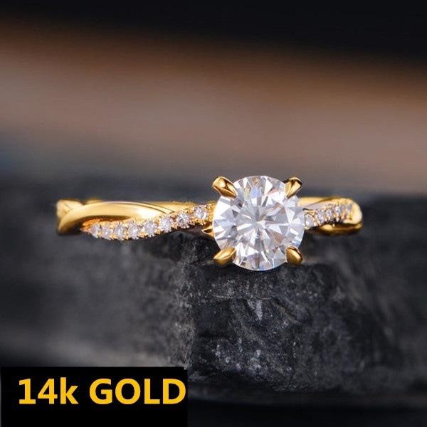 DIAMOND, Infinity, gold, Engagement Ring