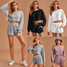 Shorts, Necks, Sleeve, Long Sleeve
