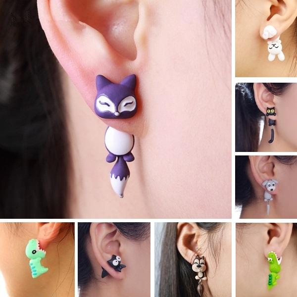 cute, Fashion, Animal, Stud Earring
