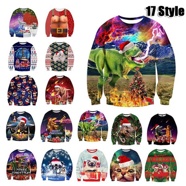 Funny, Dinosaur, Fashion, Christmas