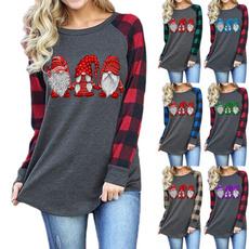 plaid shirt, xmastop, Fashion, christmasshirtsforwomen