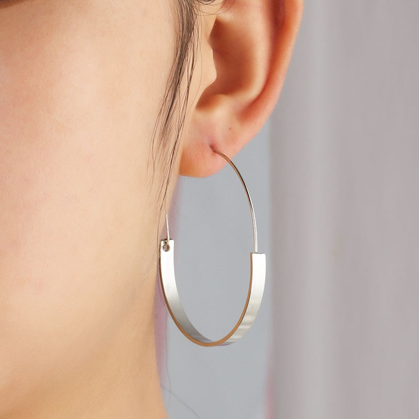 bighoopearring, Hoop Earring, Jewelry, vintage earrings