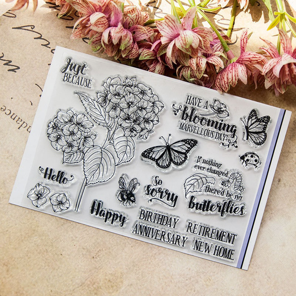 siliconestamp, Flowers, Stamps, stempel