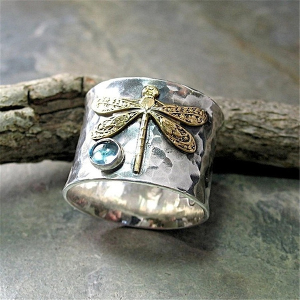 Antique, dragon fly, Jewelry, retro ring