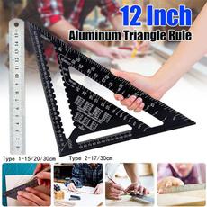 metricruler, measuringdevice, triangleruler, Aluminum